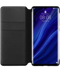 Originele Huawei P30 Pro Wallet Flip Hoesje Zwart