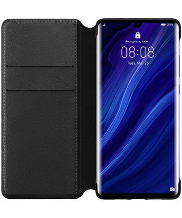 Originele Huawei P30 Pro Wallet Flip Hoesje Zwart Hoesjes