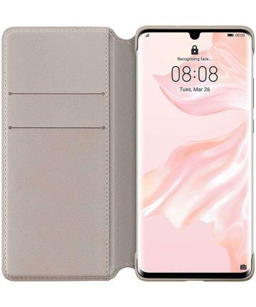 Originele Huawei P30 Pro Wallet Flip Hoesje Khaki Hoesjes