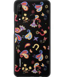 Originele Huawei P30 Lite PC Hoesje Floral Zwart