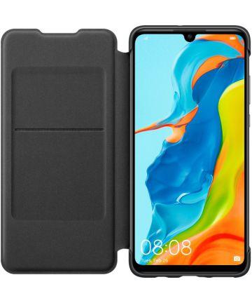 Originele Huawei P30 Lite Wallet Flip Hoesje Zwart Hoesjes