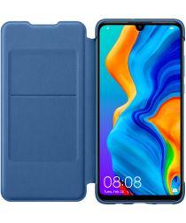 Originele Huawei P30 Lite Wallet Flip Hoesje Blauw