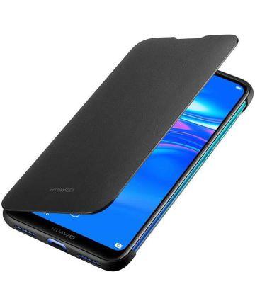 Originele Huawei Y7 (2019) Wallet Flip Hoesje Zwart Hoesjes