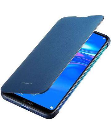 Originele Huawei Y7 (2019) Wallet Flip Hoesje Blauw Hoesjes