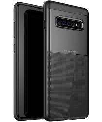 Samsung Galaxy S10 Plus TPU+PC Hoesje Zwart