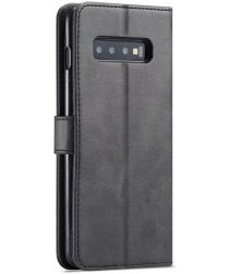 Samsung Galaxy S10 Retro Book Case Portemonnee Hoesje Zwart