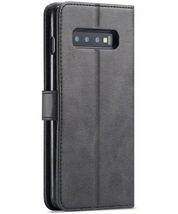 Samsung Galaxy S10 Retro Book Case Portemonnee Hoesje Zwart Hoesjes