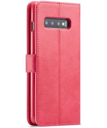 Samsung Galaxy S10 Retro Book Case Portemonnee Hoesje Rood