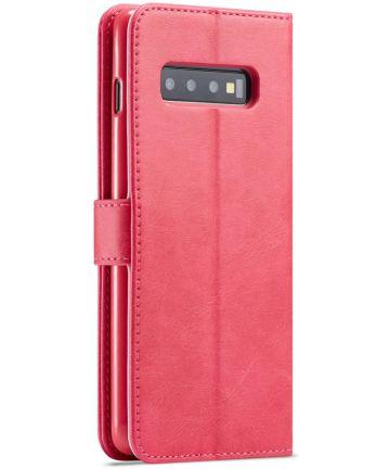 Samsung Galaxy S10 Retro Book Case Portemonnee Hoesje Rood Hoesjes