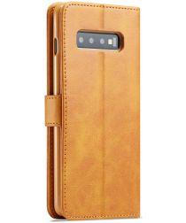 Samsung Galaxy S10 Plus Stand Portemonnee Bookcase Hoesje Bruin
