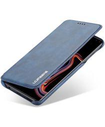 Samsung Galaxy S10 Plus Book Case Portemonnee Hoesje Blauw