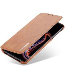 Samsung Galaxy S10 Plus Book Case Portemonnee Hoesje Bruin