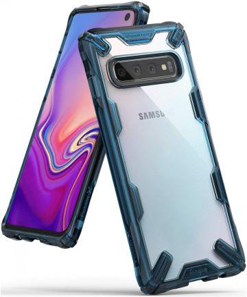 Ringke Fusion X Samsung Galaxy S10 Hoesje Blauw Hoesjes