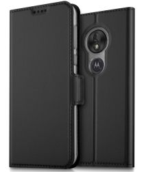 Motorola Moto G7 Play Kaarthouder Hoesje Zwart