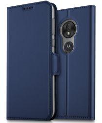 Motorola Moto G7 Play Kaarthouder Hoesje Blauw
