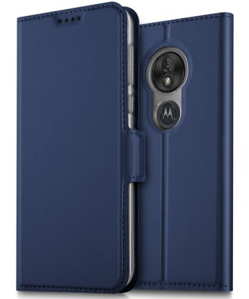 Motorola Moto G7 Play Kaarthouder Hoesje Blauw Hoesjes