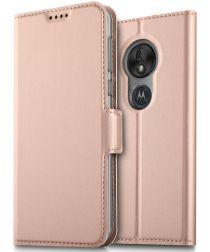 Motorola Moto G7 Power Leren Kaarthouder Hoesje Roze