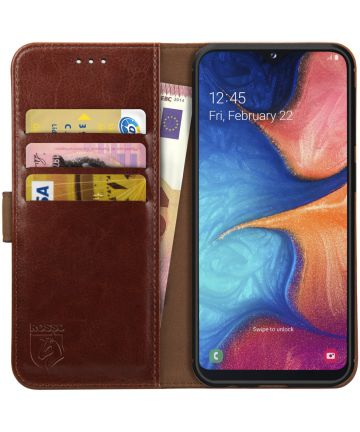 Rosso Element Samsung Galaxy A20E Hoesje Book Cover Bruin Hoesjes