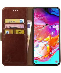Rosso Element Samsung Galaxy A70 Hoesje Book Cover Bruin