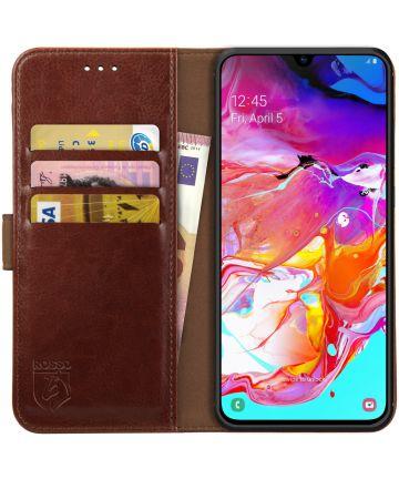 Rosso Element Samsung Galaxy A70 Hoesje Book Cover Bruin