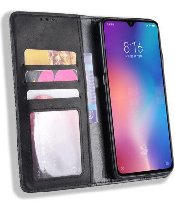 Xiaomi Mi 9 Vintage Portemonnee Hoesje Zwart Hoesjes