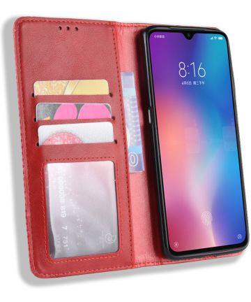 Xiaomi Mi 9 Vintage Portemonnee Hoesje Rood Hoesjes