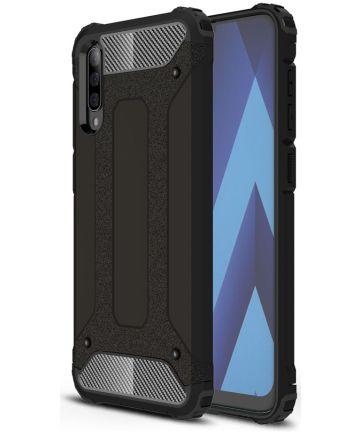 Samsung Galaxy A70 Hoesje Shock Proof Hybride Back Cover Zwart Hoesjes