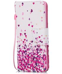 Samsung Galaxy S10E Portemonnee Hoesje met Hartjes Print