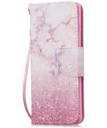 Samsung Galaxy S10E Portemonnee Hoesje met Marmer Print
