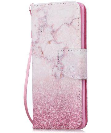 Samsung Galaxy S10E Portemonnee Hoesje met Marmer Print Hoesjes