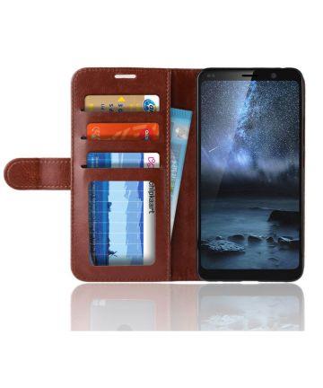 Nokia 9 PureView Portemonnee Hoesje Bruin Hoesjes
