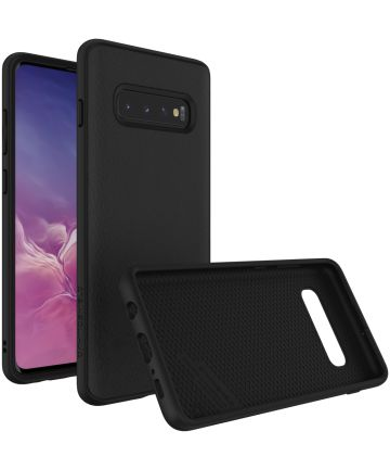 RhinoShield SolidSuit Black Leather Samsung Galaxy S10 Plus Hoesje