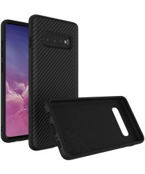 RhinoShield SolidSuit Carbon Fiber Samsung Galaxy S10 Plus Hoesje