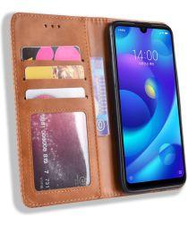 Xiaomi Redmi Note 7 Vintage Portemonnee Hoesje Bruin