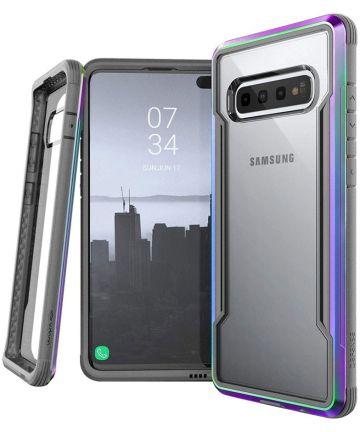 Raptic Shield Samsung Galaxy S10 Plus Hoesje Transparant/Iridescent Hoesjes