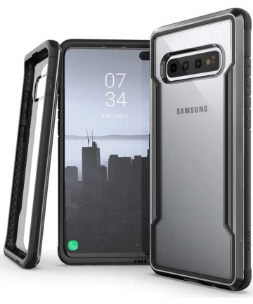 Raptic Shield Samsung Galaxy S10 Hoesje Transparant/Zwart Hoesjes