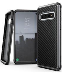 Raptic Lux Samsung Galaxy S10 hoesje carbon fiber zwart