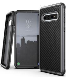 Defense Lux Samsung Galaxy S10 Plus Hoesje Carbon Fiber Zwart