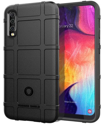 Samsung Galaxy A50 Back Cover Hoesje Shock Proof Rugged Shield Zwart Hoesjes