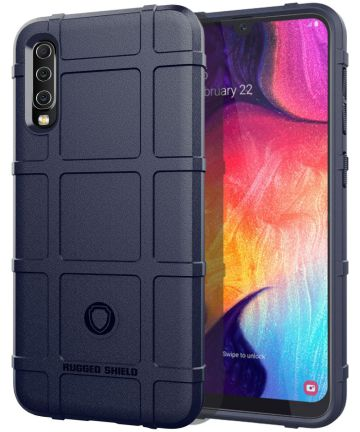 Samsung Galaxy A50 Back Cover Hoesje Shock Proof Rugged Shield Blauw Hoesjes