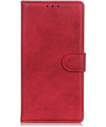 Samsung Galaxy A50 Book Case Hoesje Stand Wallet Kunst Leer Rood