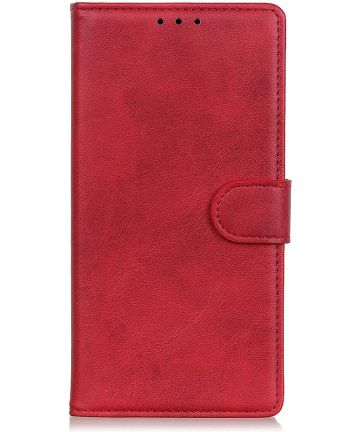 Samsung Galaxy A50 Book Case Hoesje Stand Wallet Kunst Leer Rood Hoesjes