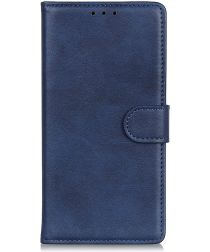 Samsung Galaxy A50 Book Case Hoesje Stand Wallet Kunst Leer Blauw