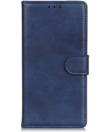 Samsung Galaxy A50 Book Case Hoesje Stand Wallet Kunst Leer Blauw Hoesjes