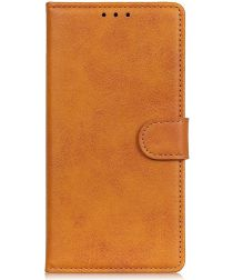 Samsung Galaxy A50 Book Case Hoesje Stand Wallet Kunst Leer Bruin
