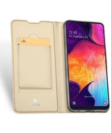Dux Ducis Skin Pro Series Samsung Galaxy A50 Book Case Hoesje Goud Hoesjes