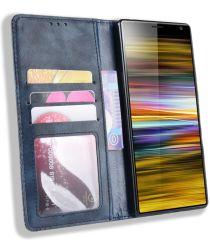 Sony Xperia 10 Plus Vintage Portemonnee Hoesje Blauw