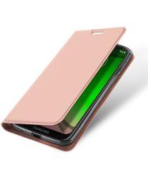Dux Ducis Premium Book Case Motorola Moto G7 Play Hoesje Roze