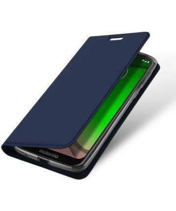 Dux Ducis Premium Book Case Motorola Moto G7 Play Hoesje Blauw Hoesjes