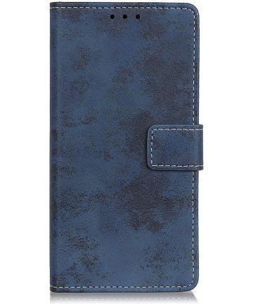 Samsung Galaxy A10 Vintage Portemonnee Hoesje Blauw Hoesjes